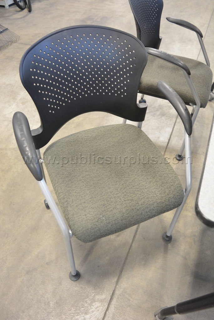 """#2303283 - Versteel TMV2 72""""x24"""" Variable Height Table w/4 Office Master SG2K Chairs"""